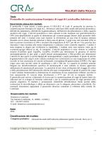 Risultati della Ricerca Protocollo di caratterizzazione