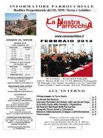 Basilica Prepositurale dei SS. MM. Nereo e Achilleo FEBBRAIO 2014