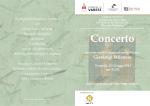 Programma del concerto