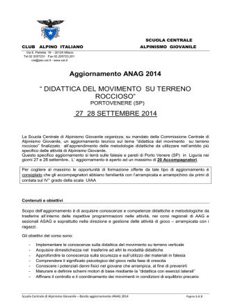 Aggiornamento ANAG 2014 - commissione interregionale alpinismo