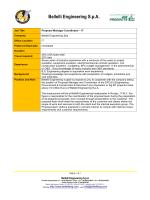Schedule - Proposal Manager Coordinator