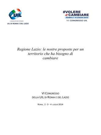 4 Luglio 2014 - UIL di ROMA e del LAZIO
