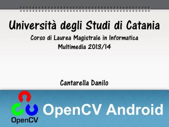 approfondimento 13 - open Cv - Dipartimento di Matematica e