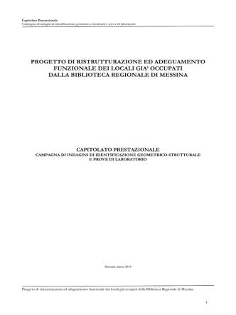 Capitolato Prestazionale - Università degli Studi di Messina