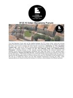 E12-13 Inter-Sessions Forum - Ordine degli Architetti – Pistoia