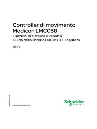 Controller di movimento Modicon LMC058 - Funzioni di