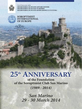 25th ANNIVERSARY - Soroptimist International of Europe