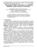 Generazione Web Lombardia e innovatività didattica: quale ruolo