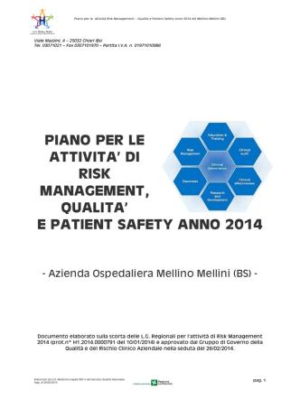 2014 Piano Attività Risk Management
