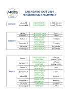 calendario gare 2014 prom femm