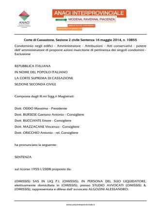 2014-05-16 Cassazione Civile n 10855