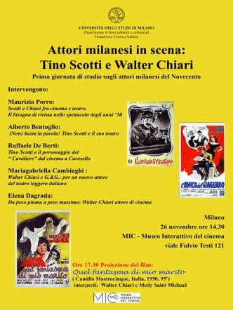 Attori milanesi in scena: Tino Scotti e Walter Chiari