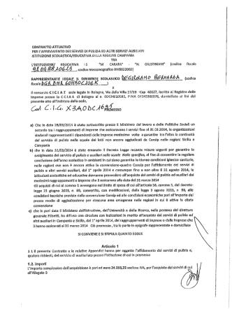 Contratto Attuativo - Carafa Giustiniani Expo 2014 15