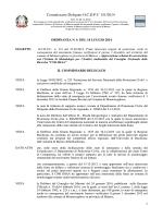 Ordinanza Commissariale n. 06 del 14 luglio 2014