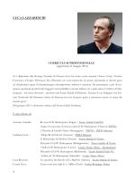 Curriculum direttore artistico