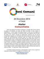 Atelier ComunItalia: cercasi duecento cittadini