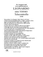 manuale installazione ed utilizzo di leonardo sms