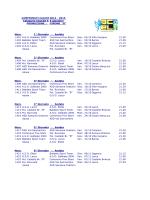 Calendario Girone B - ASD Polisportiva Rovinata