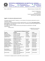 ricevimenti meduna - Istituto Comprensivo di Motta di Livenza