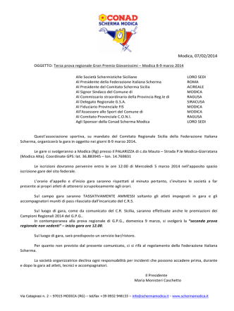 circolare gara - Comitato Regionale Sicilia