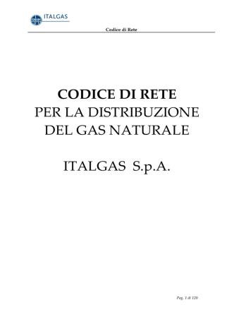 Codice di Rete Italgas