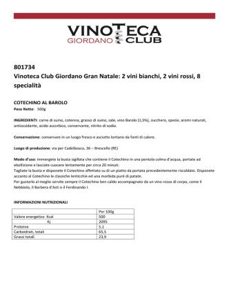 801734 Vinoteca Club Giordano Gran Natale: 2 vini bianchi, 2