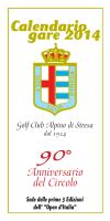 Calendario gare 2014 - Golf Club Alpino di Stresa