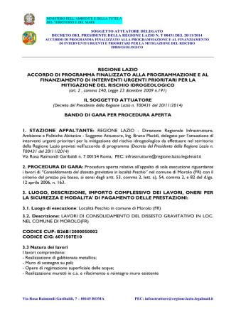 Allegato B - Regione Lazio
