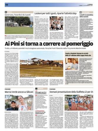 8-9-2014 sacchini vince a Roccastrada e presentazione Caracalla