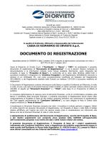 Documento di Registrazione Cassa di Risparmio di