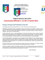 Stagione Sportiva 2013/2014 Comunicato Ufficiale n