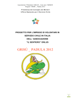 GRISÙ _ PADULA 2012 - Associazione Onlus – Il Sentiero