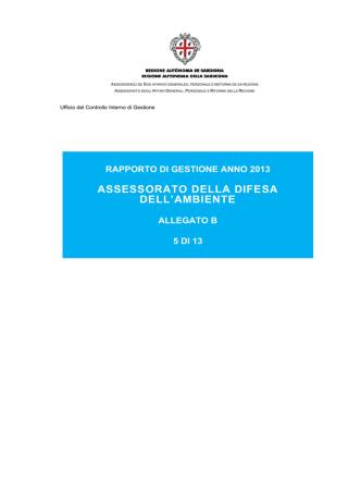 05 Ambiente e CFVA [file] - Regione Autonoma della Sardegna