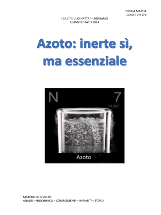 azoto: inerte si ma essenziale