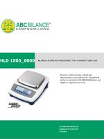 """hld 1500_6000 bilancia tecnica di precisione """"top"""