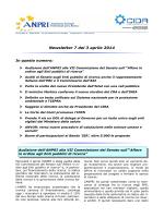 Newsletter 7 del 3 aprile 2014