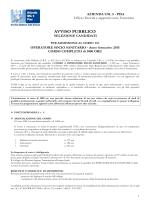 Avviso pubblico corso OSS - 1000 ORE - anno