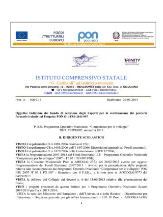 bando_esperti_OB_D_azione_D1 - Istituto Garibaldi Realmonte