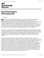 How Technology Is Destroying Jobs | MIT Technology Review
