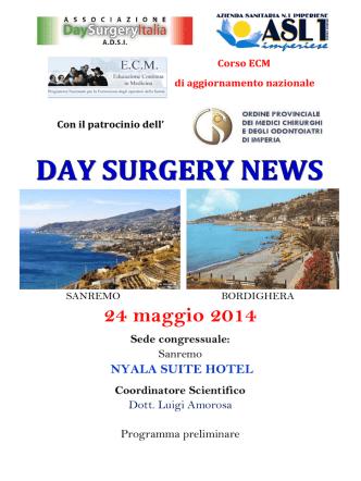 DAY SURGERY NEWS – Sanremo 24 maggio