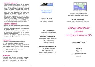 brochure epatocarcinoma rivista da Russello -