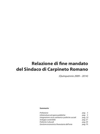 Allegato alla delibera - Comune di Carpineto Romano