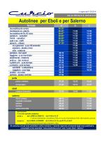 Autolinee per Eboli e per Salerno
