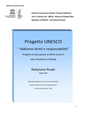 A - Il testo completo della relazione finale 2014