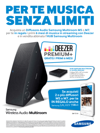 Acquista un Diffusore Audio Samsung Multiroom M5