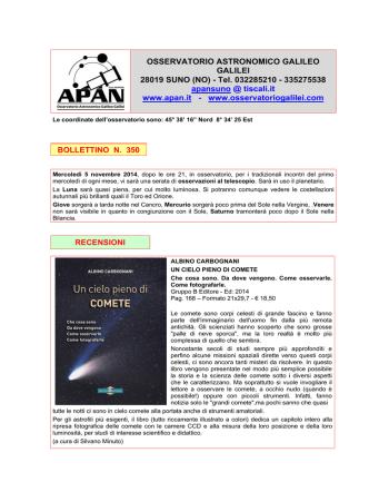 Bollettino 350 del 05-11-2014