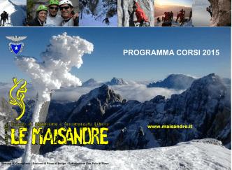 Corso AL1 2015 Rel 00 - Scuola di Alpinismo e Arrampicata