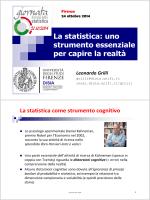 La statistica: uno strumento essenziale per capire la realtà