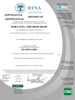 3834-252/11/S OCM-C SRL CON UNICO SOCIO CERTIFICATE No