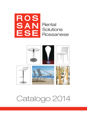 Catalogo 2014 - Rental Solutions Rossanese